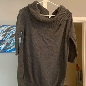 Grey boatneck sweater